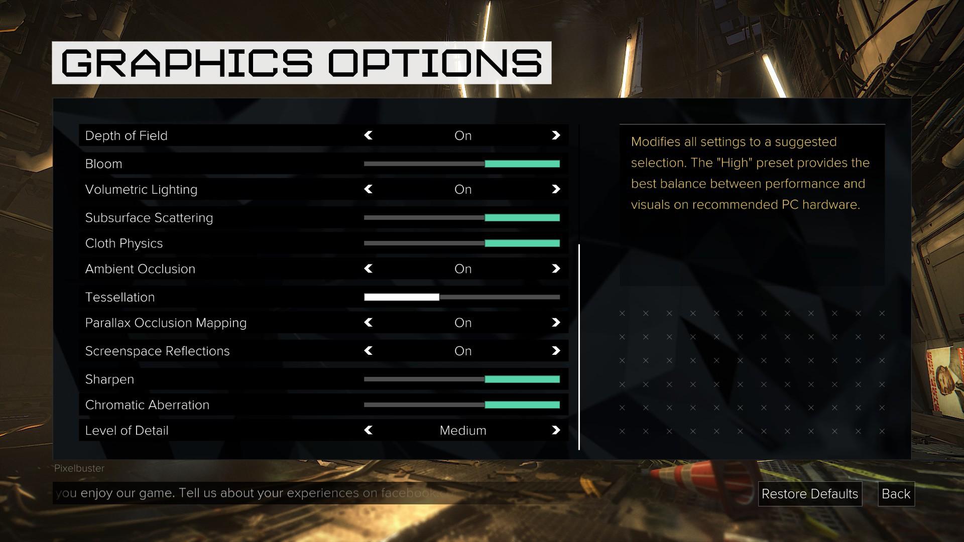 Grafické nastavení PC verze Deus Ex: Mankind Divided rozhodně není chudé 128895