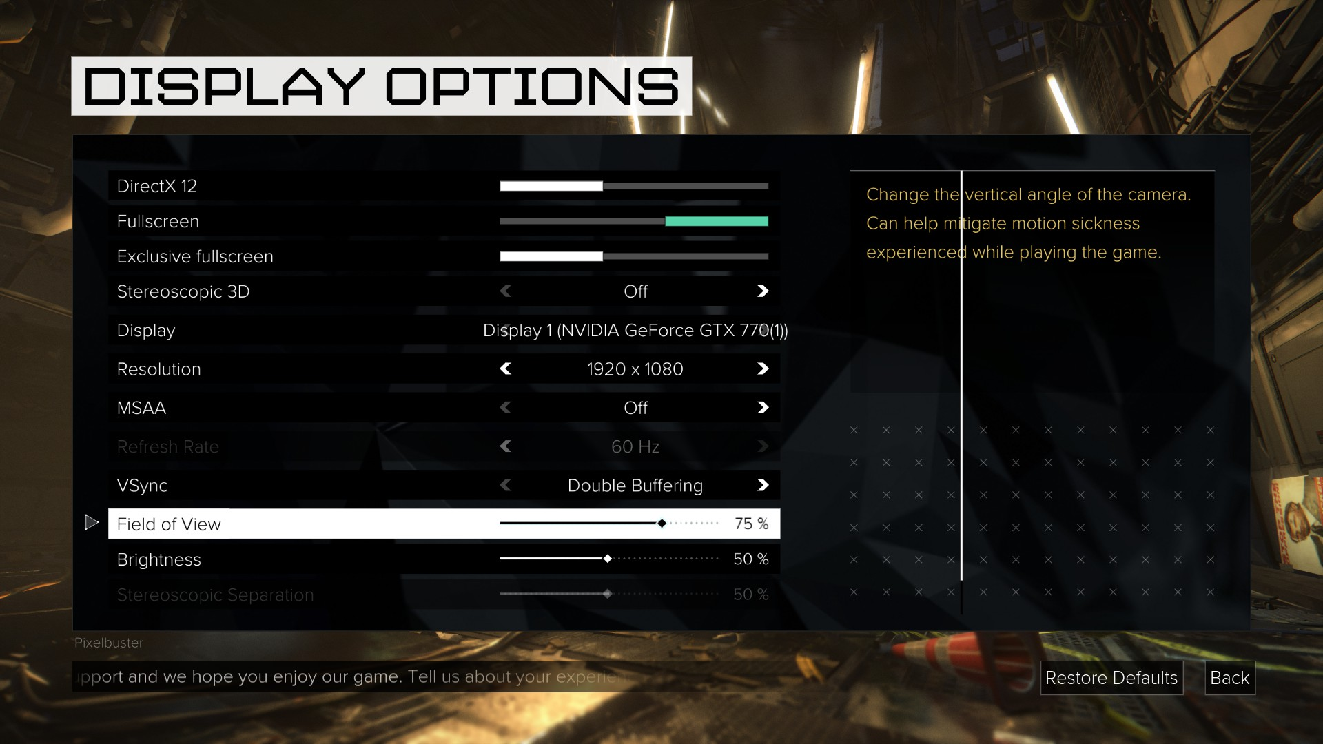 Grafické nastavení PC verze Deus Ex: Mankind Divided rozhodně není chudé 128896