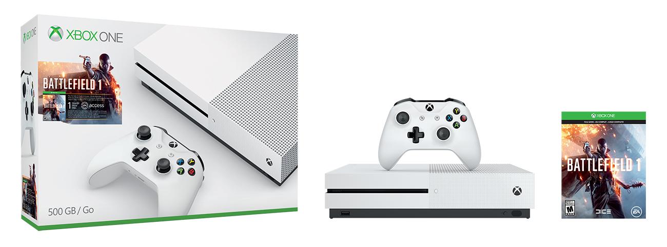 Bundl Xboxu One S s Battlefieldem 1 130560