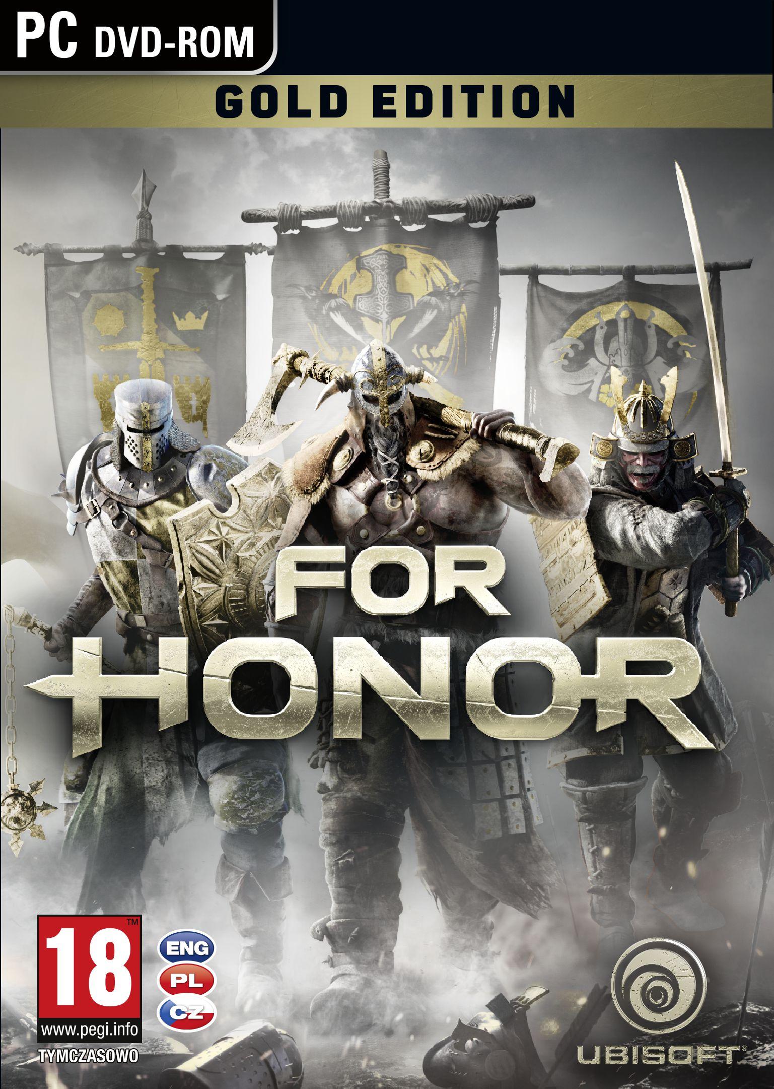 Krabička potvrzuje češtinu u všech verzí For Honor 130771
