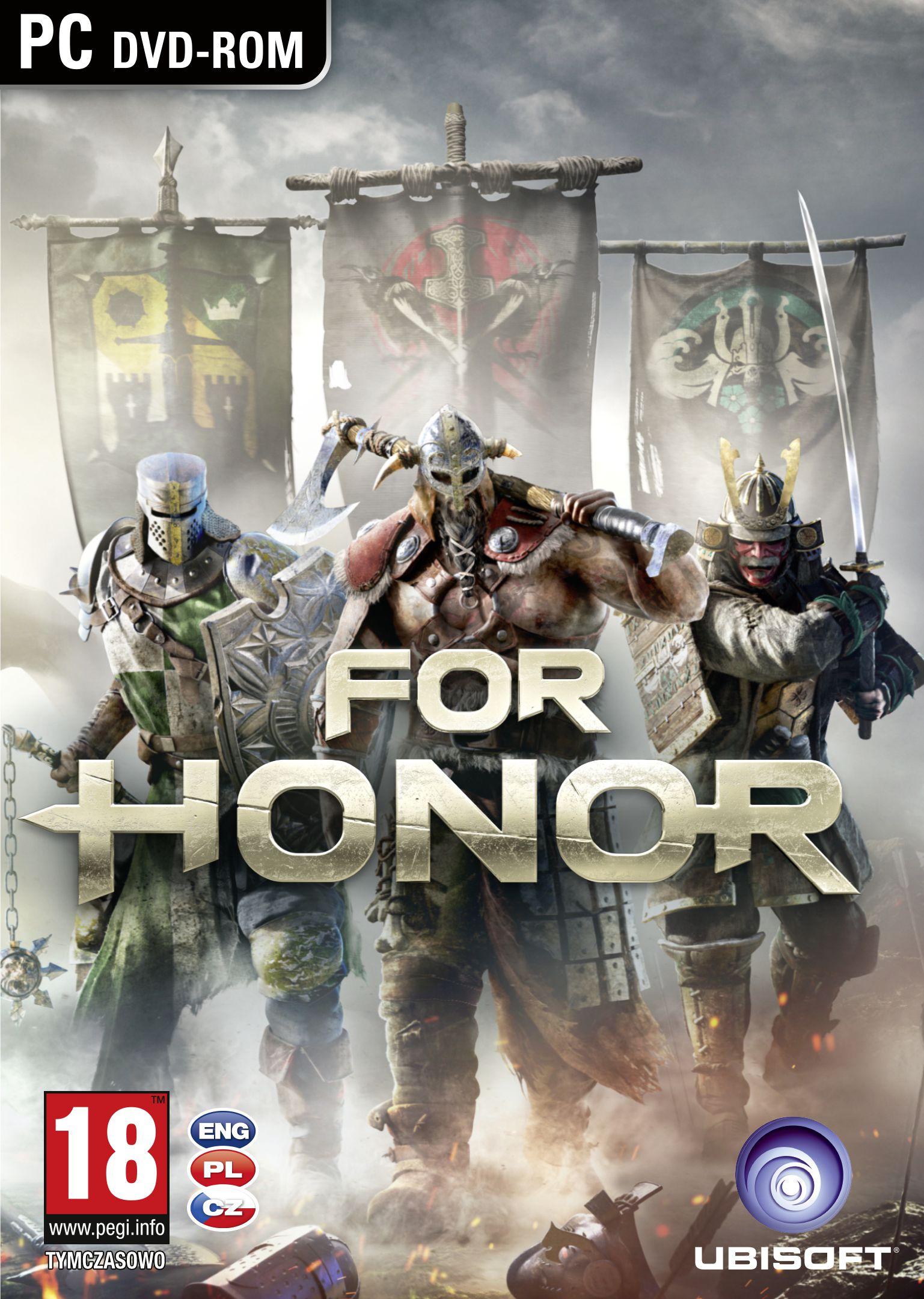 Krabička potvrzuje češtinu u všech verzí For Honor 130772