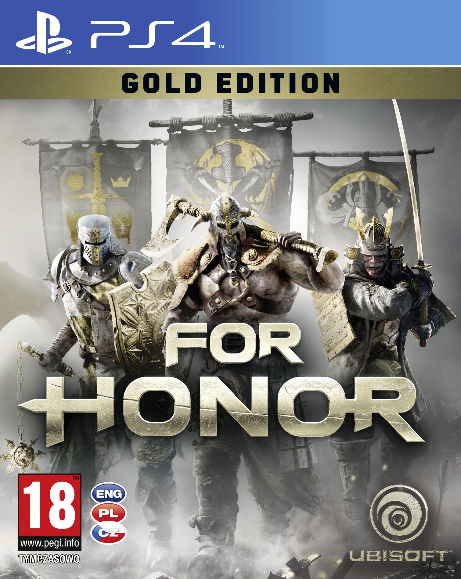 Krabička potvrzuje češtinu u všech verzí For Honor 130773