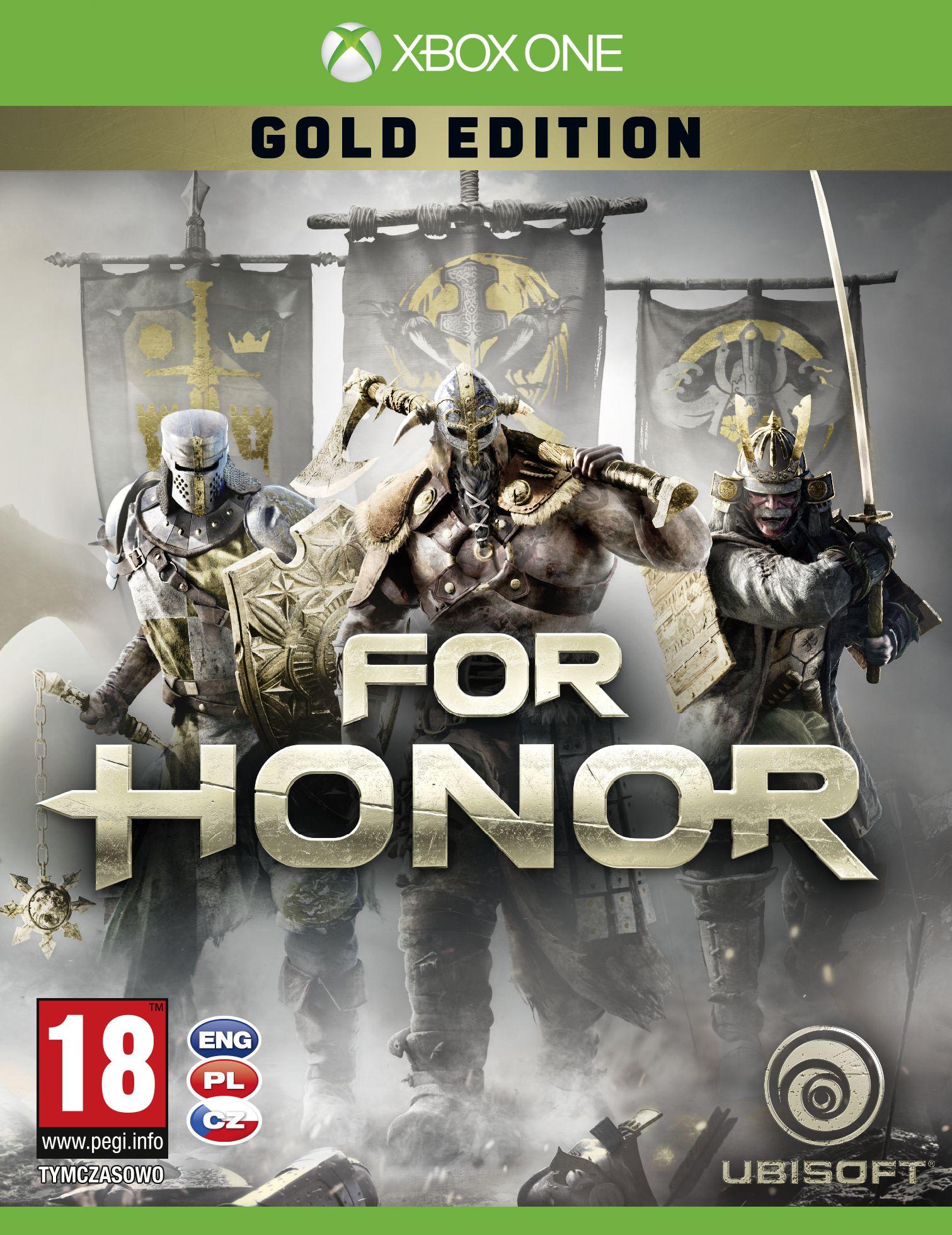 Krabička potvrzuje češtinu u všech verzí For Honor 130778