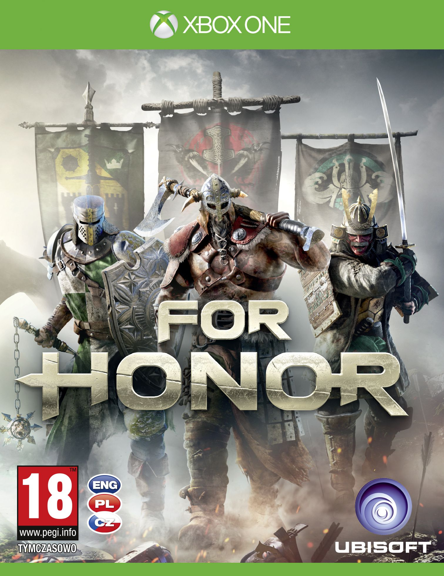 Krabička potvrzuje češtinu u všech verzí For Honor 130781