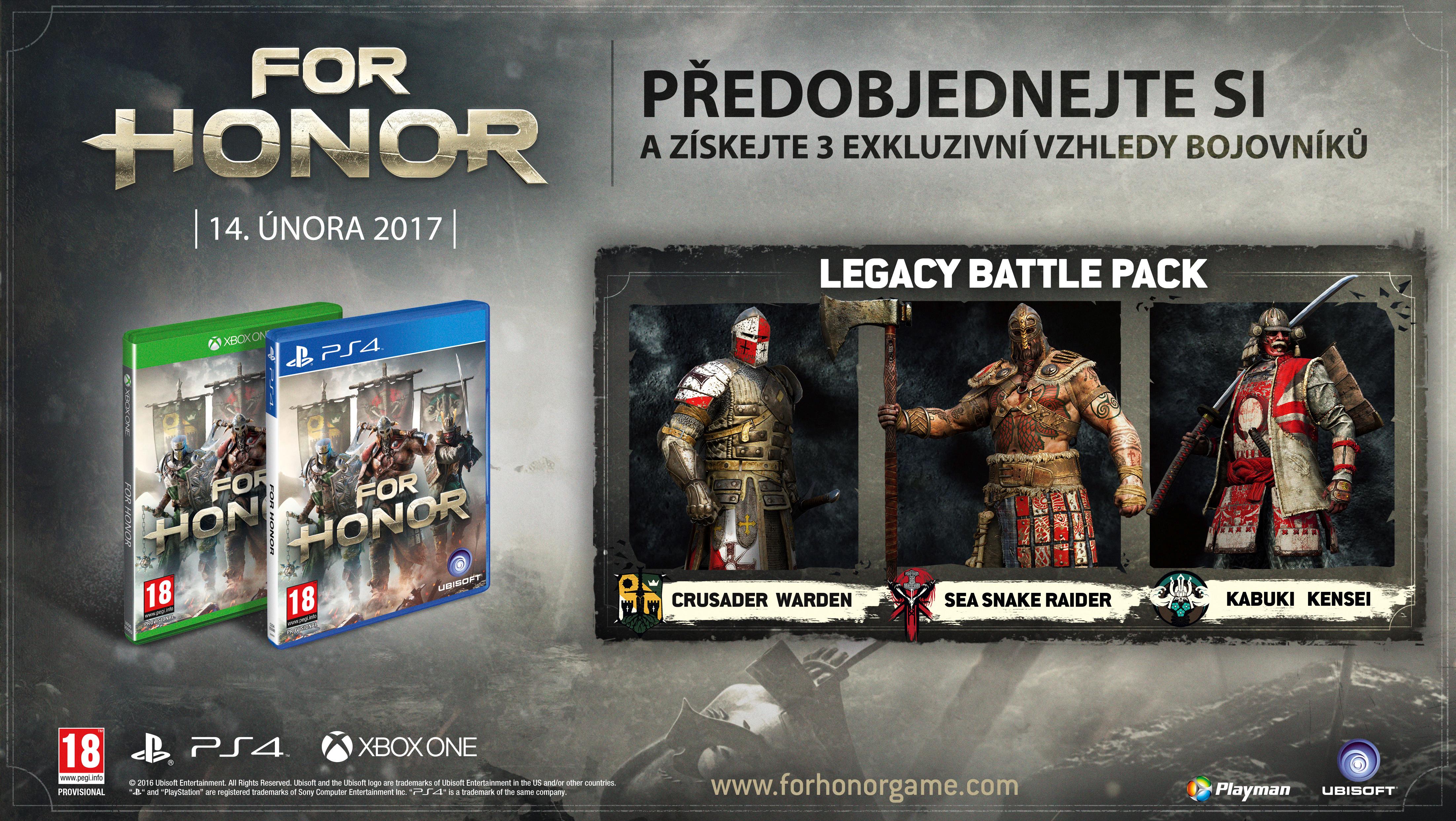 Krabička potvrzuje češtinu u všech verzí For Honor 130784