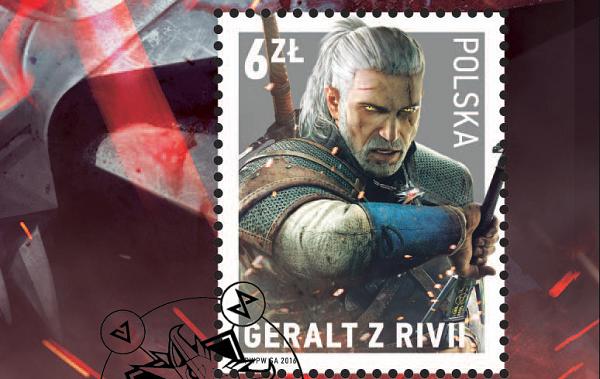 Polská pošta nabízí poštovní známky s Geraltem 130865