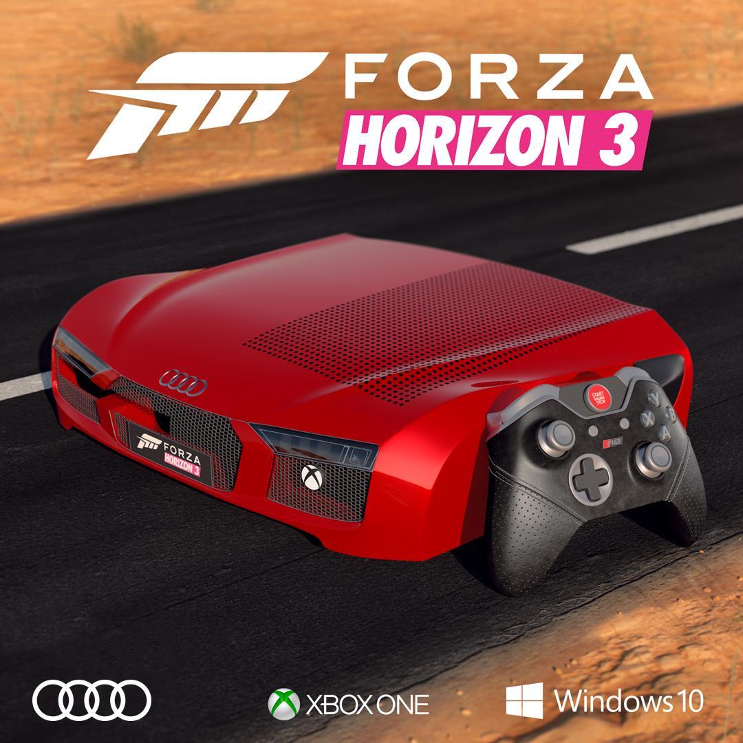 Speciální Xbox One S jako přední část vozu Audi R8 131281