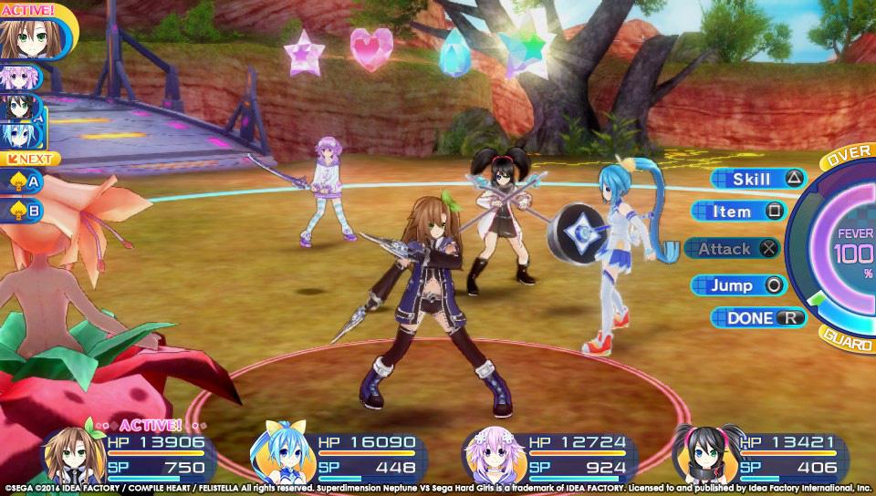 Boje a úvod ze Superdimension Neptune VS Sega Hard Girls 131356