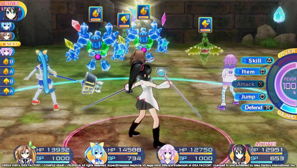 Boje a úvod ze Superdimension Neptune VS Sega Hard Girls 131357