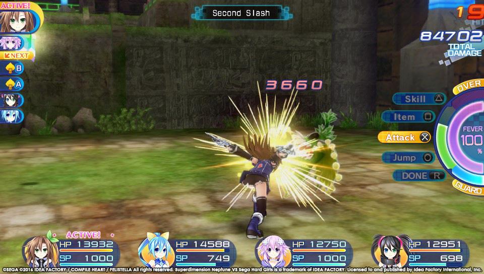 Boje a úvod ze Superdimension Neptune VS Sega Hard Girls 131358
