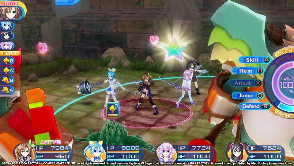 Boje a úvod ze Superdimension Neptune VS Sega Hard Girls 131359