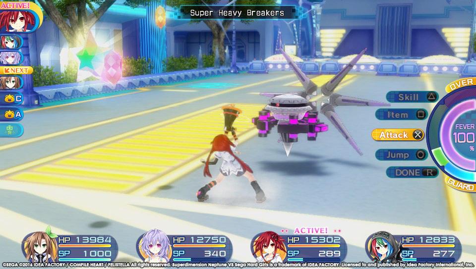 Boje a úvod ze Superdimension Neptune VS Sega Hard Girls 131361