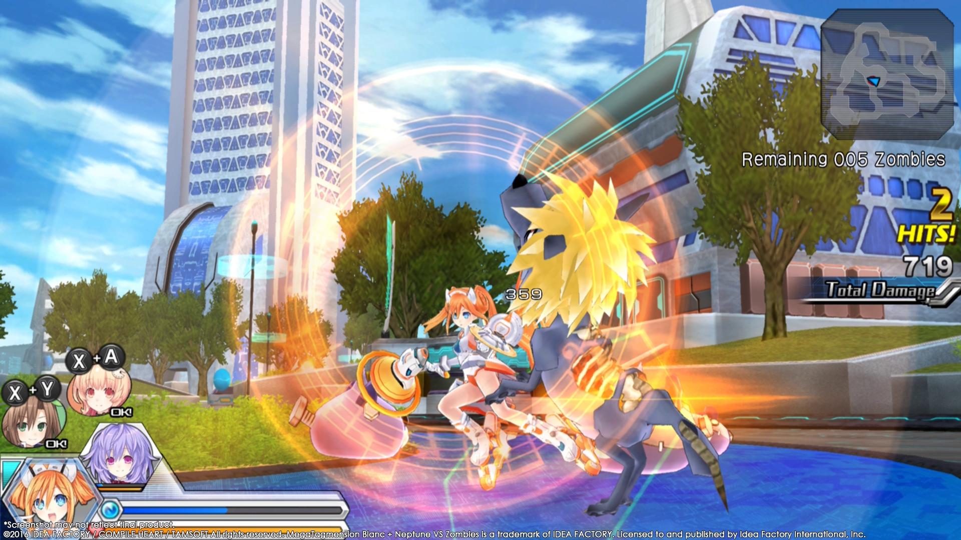 MegaTagmension Blanc + Neptune VS Zombies vychází na PC 131408