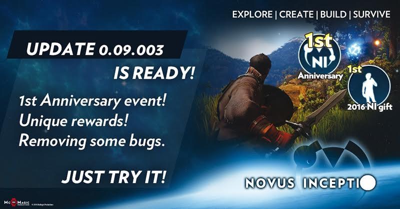 Novus Inceptio slaví jeden rok od spuštění předběžného přístupu 131882