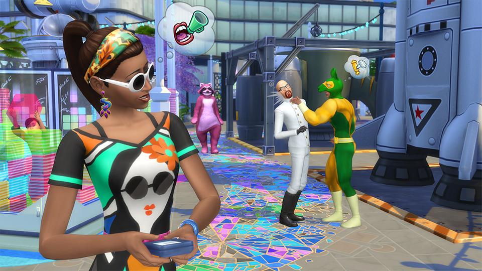 Festivaly humoru a žertu v rozšíření The Sims 4 132327