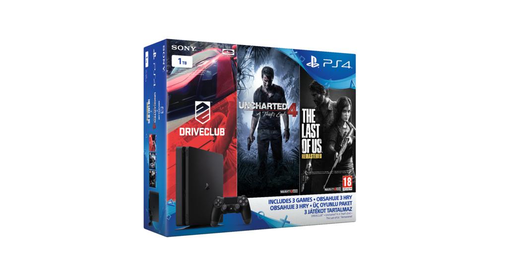 Tři nové PS4 Slim bundly s třemi hrami 132922