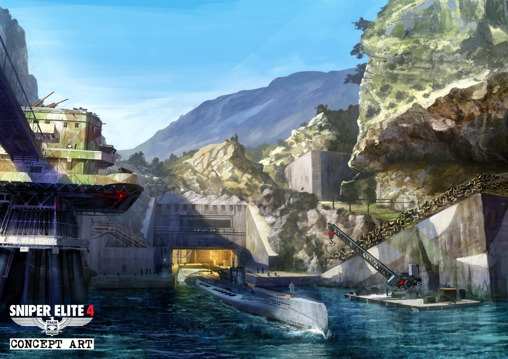 Koncepty prostředí ze Sniper Elite 4 135947