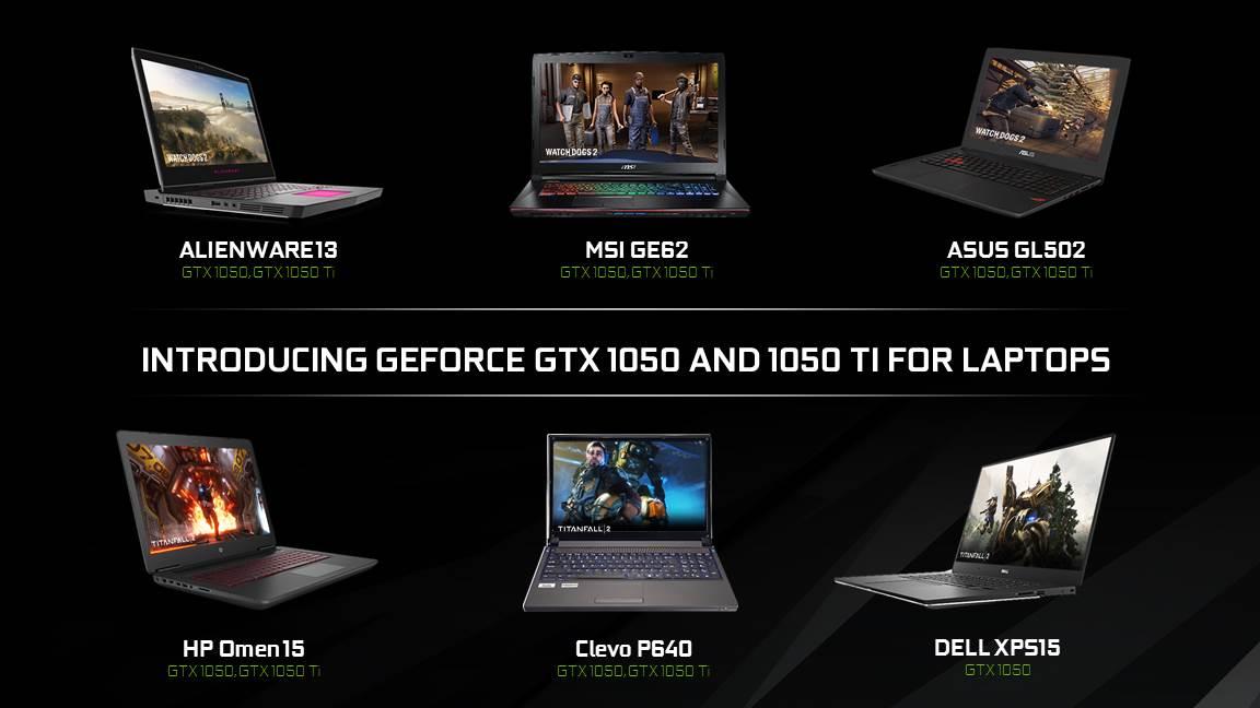 Nvidia představila karty GTX 1050 pro laptopy 135968
