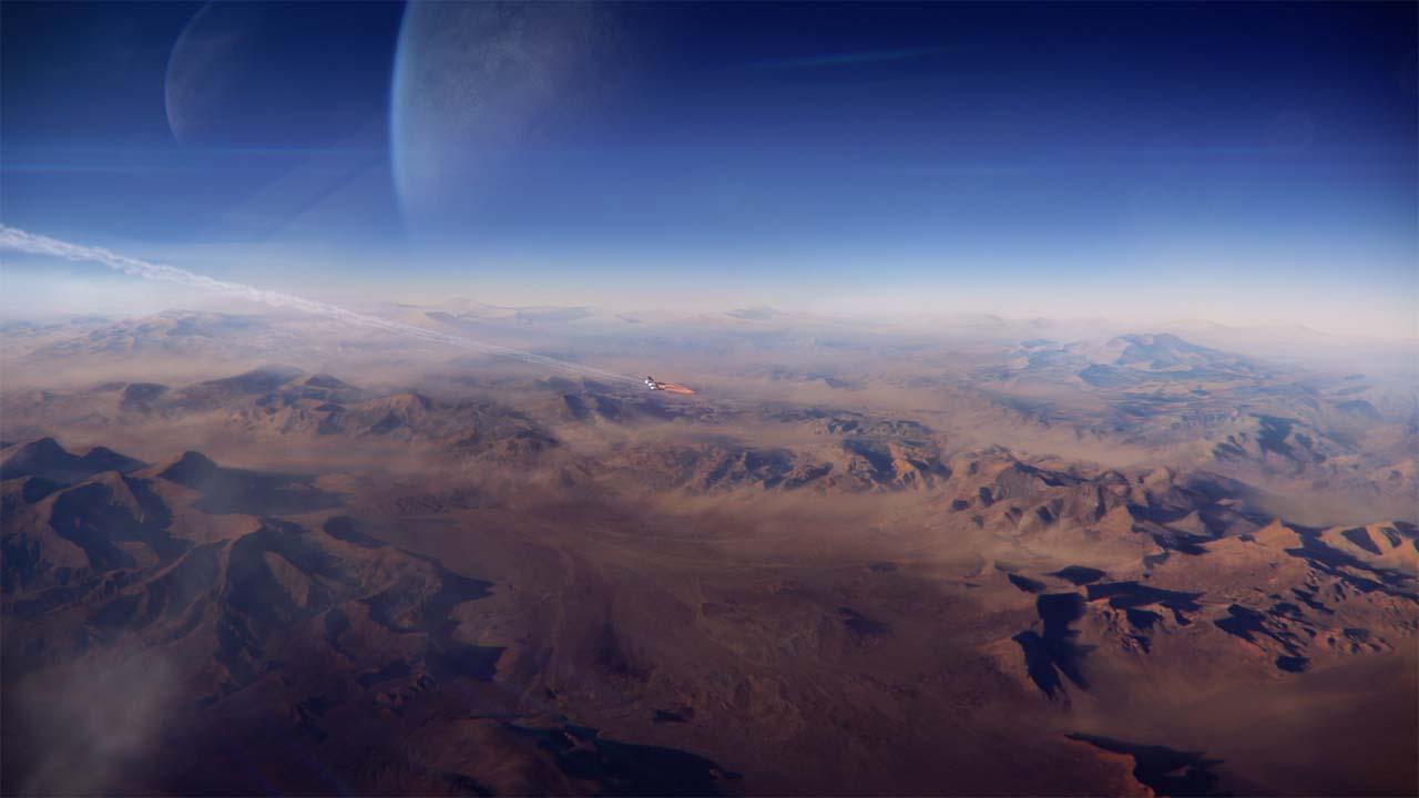 Nové záběry z Mass Effectu: Andromeda ukazují konflikt na nehostinné planetě 135974
