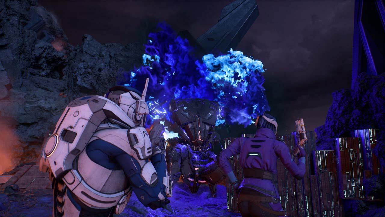 Nové záběry z Mass Effectu: Andromeda ukazují konflikt na nehostinné planetě 135977