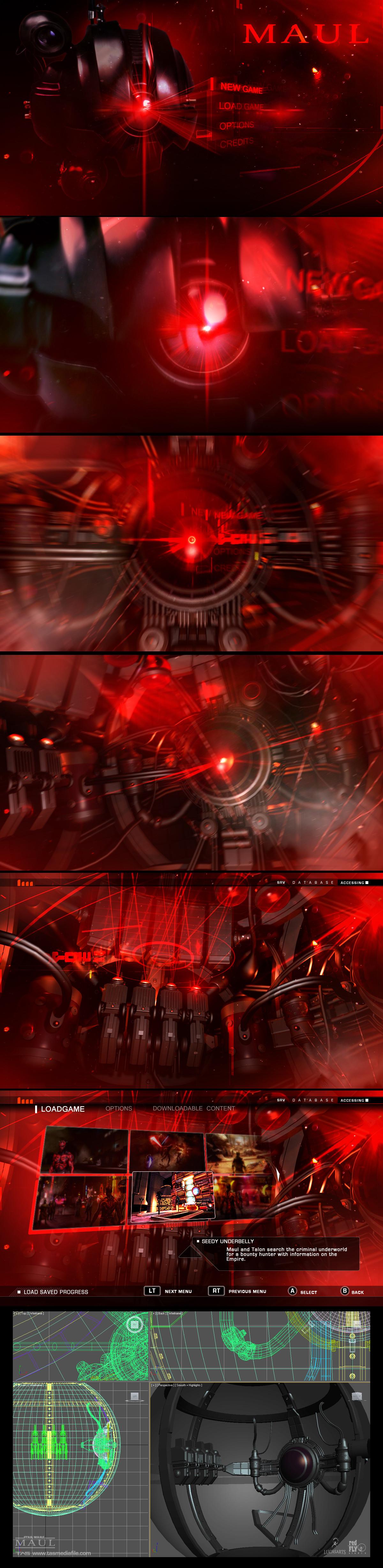 Množství obrazových materiálů ze zrušené Star Wars hry s Darthem Maulem 136597