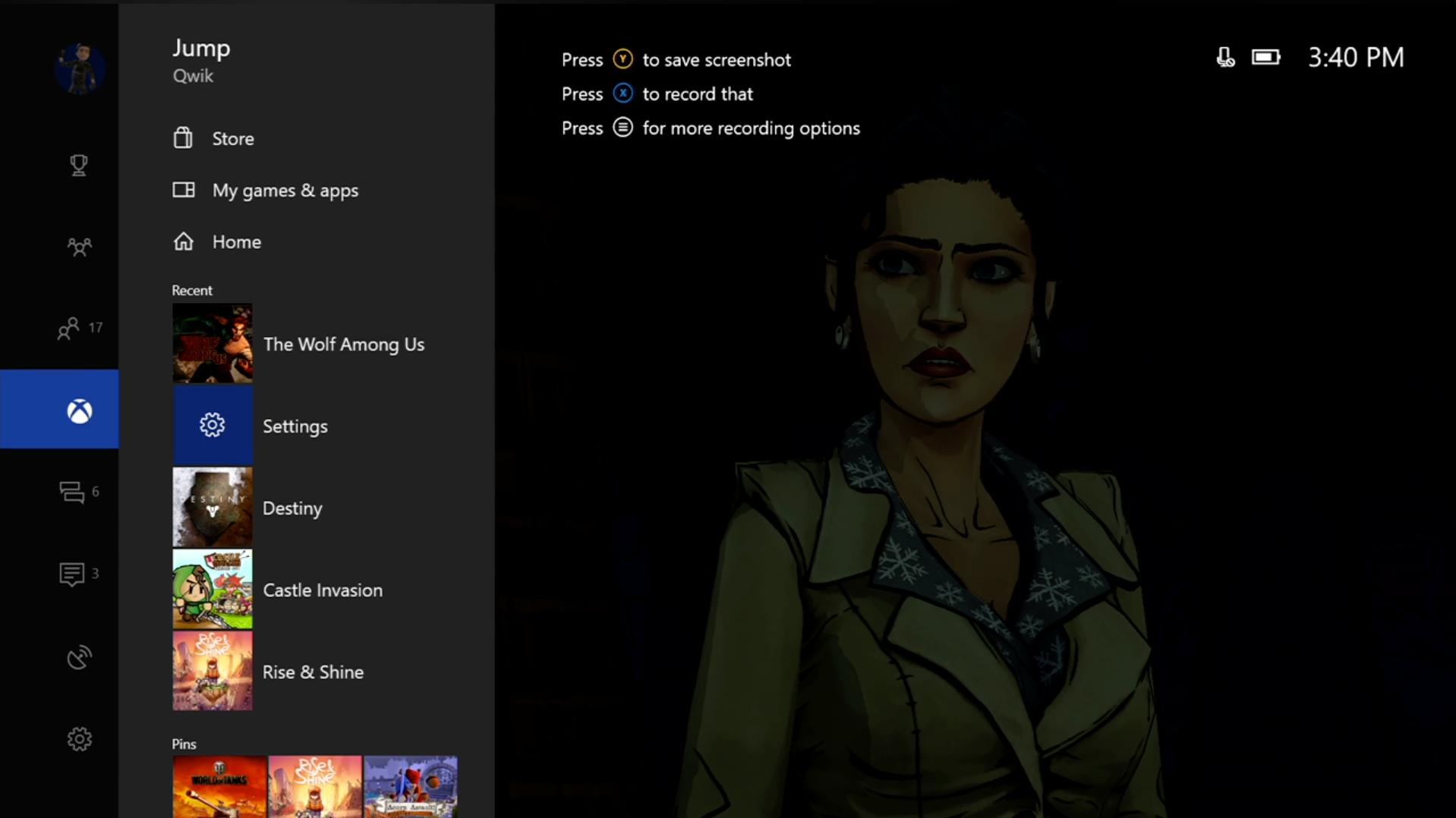 Microsoft ukázal přepracované levé menu v Xboxu One 136685