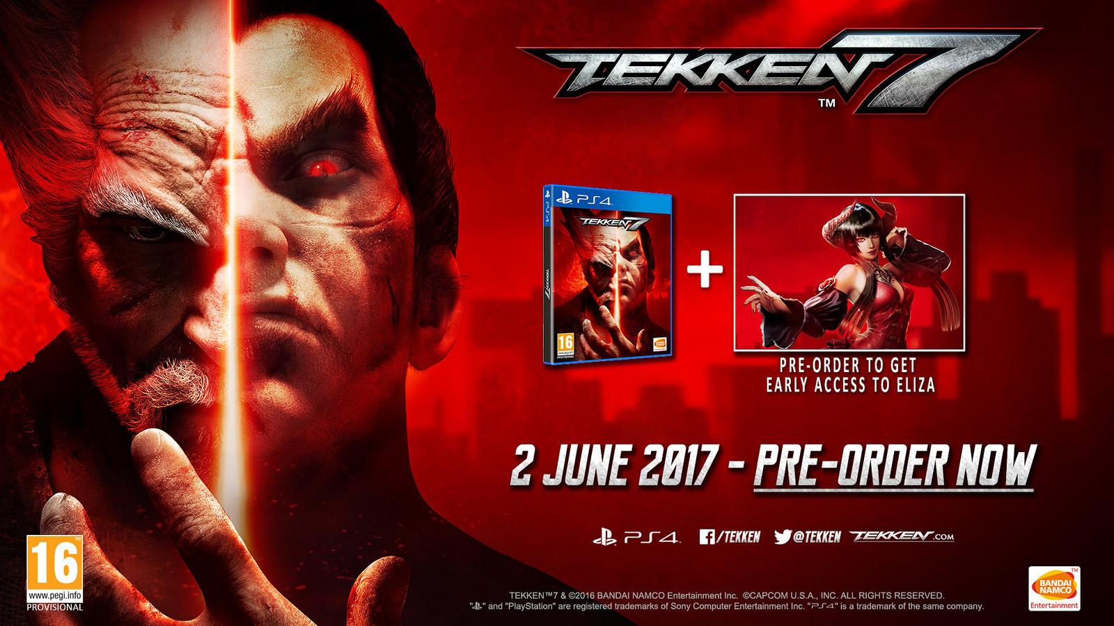 Tekken 7 vyjde až v červnu 137154