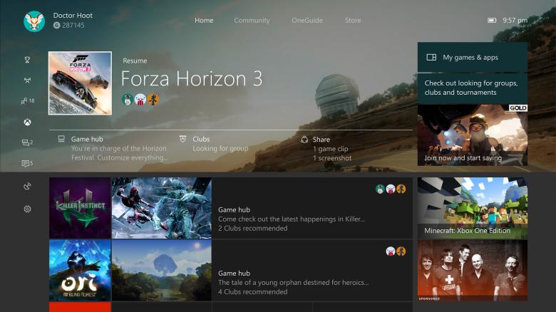 Detailní ukázka nového Xbox One Guidu 137233