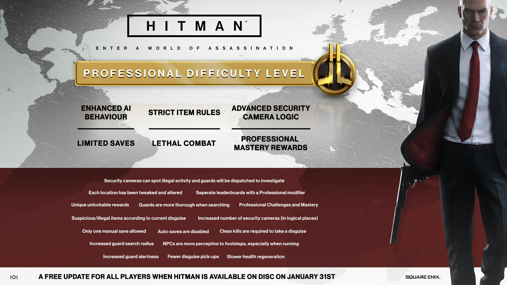 Hitman dostane profesionální obtížnost 137393