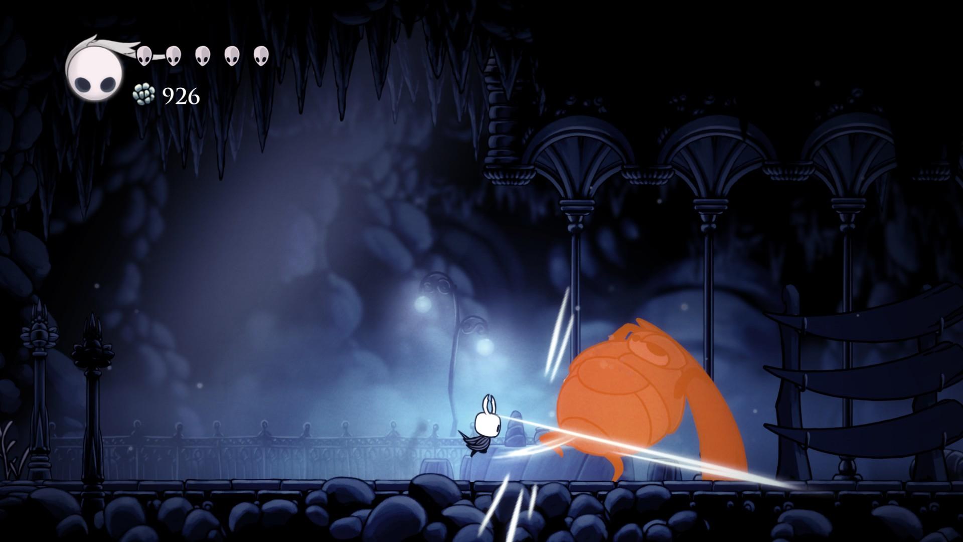 Hollow Knight - cesta rytíře v šedivé zbroji 140078