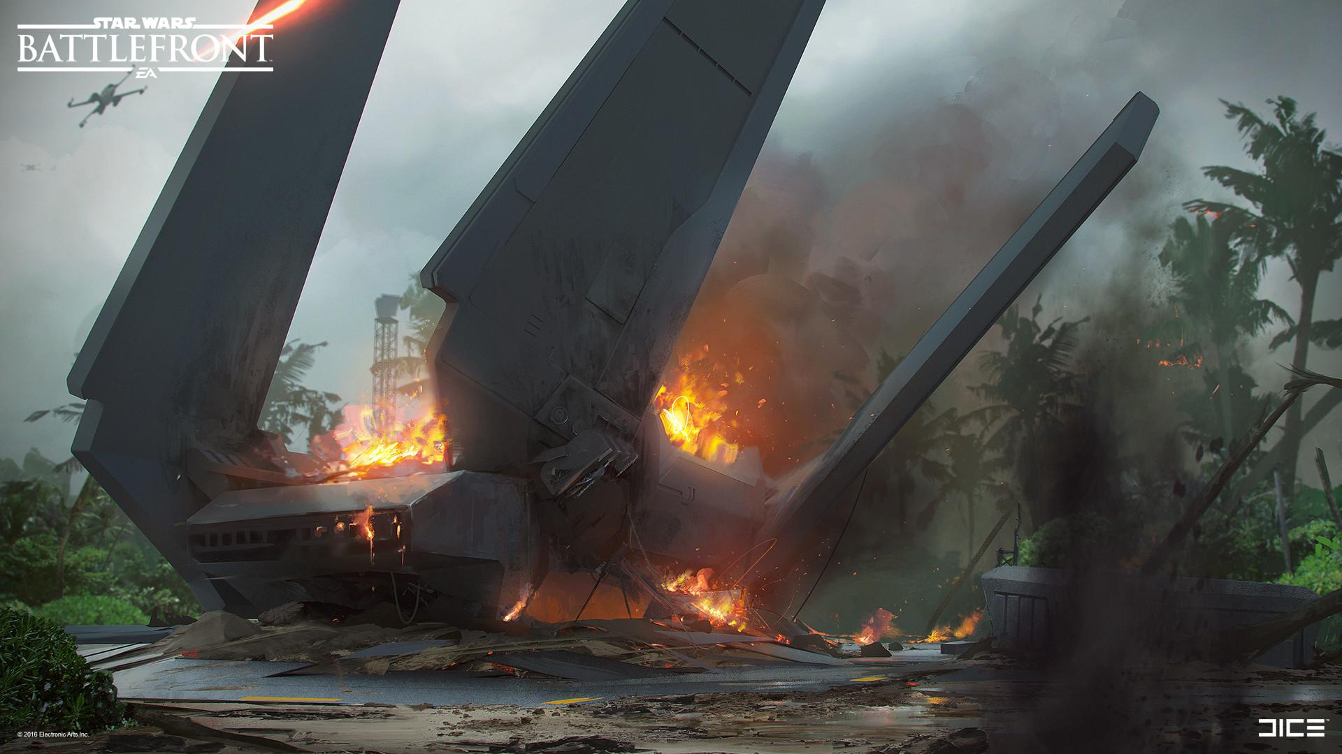 Koncepty z vývoje Star Wars: Battlefrontu ukazují některé nezrealizované prvky 140326