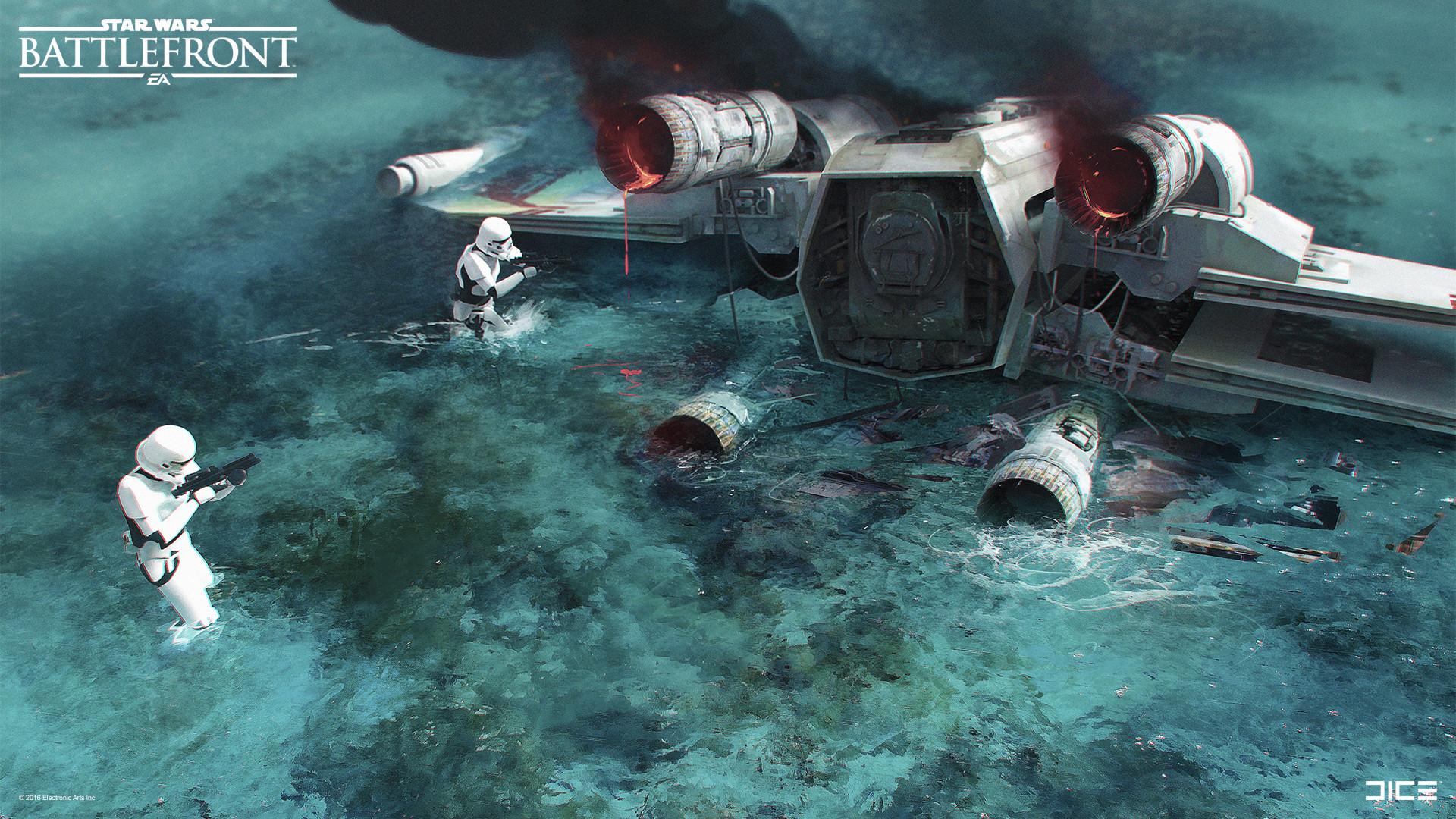 Koncepty z vývoje Star Wars: Battlefrontu ukazují některé nezrealizované prvky 140328