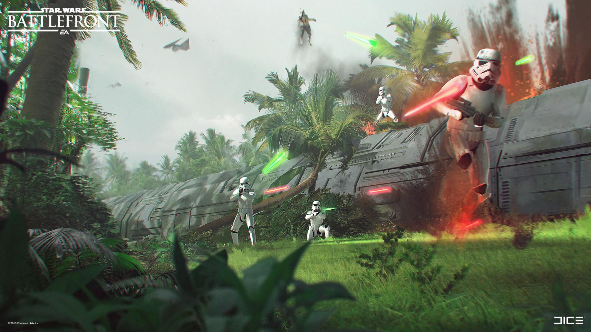 Koncepty z vývoje Star Wars: Battlefrontu ukazují některé nezrealizované prvky 140331