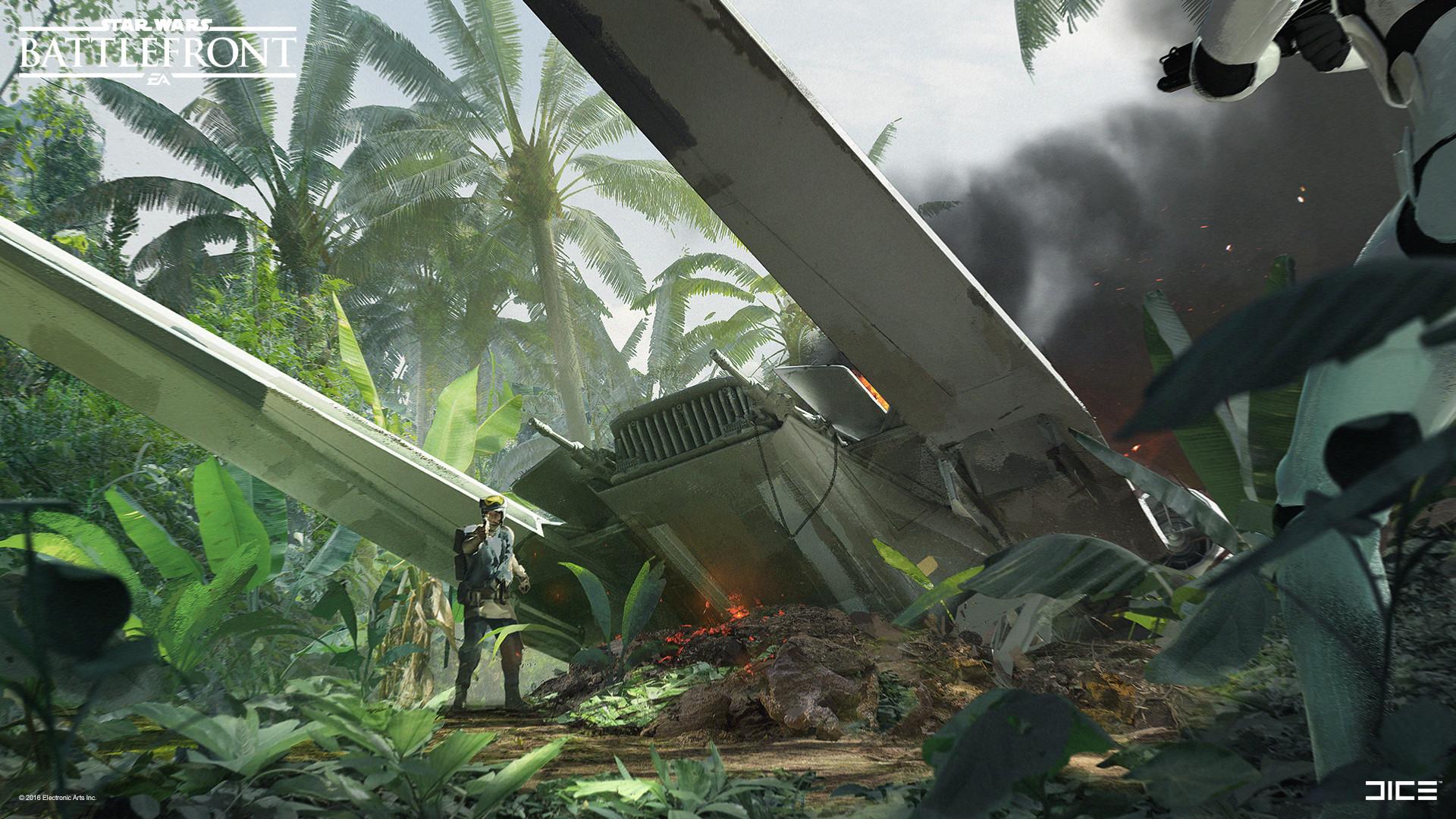 Koncepty z vývoje Star Wars: Battlefrontu ukazují některé nezrealizované prvky 140332
