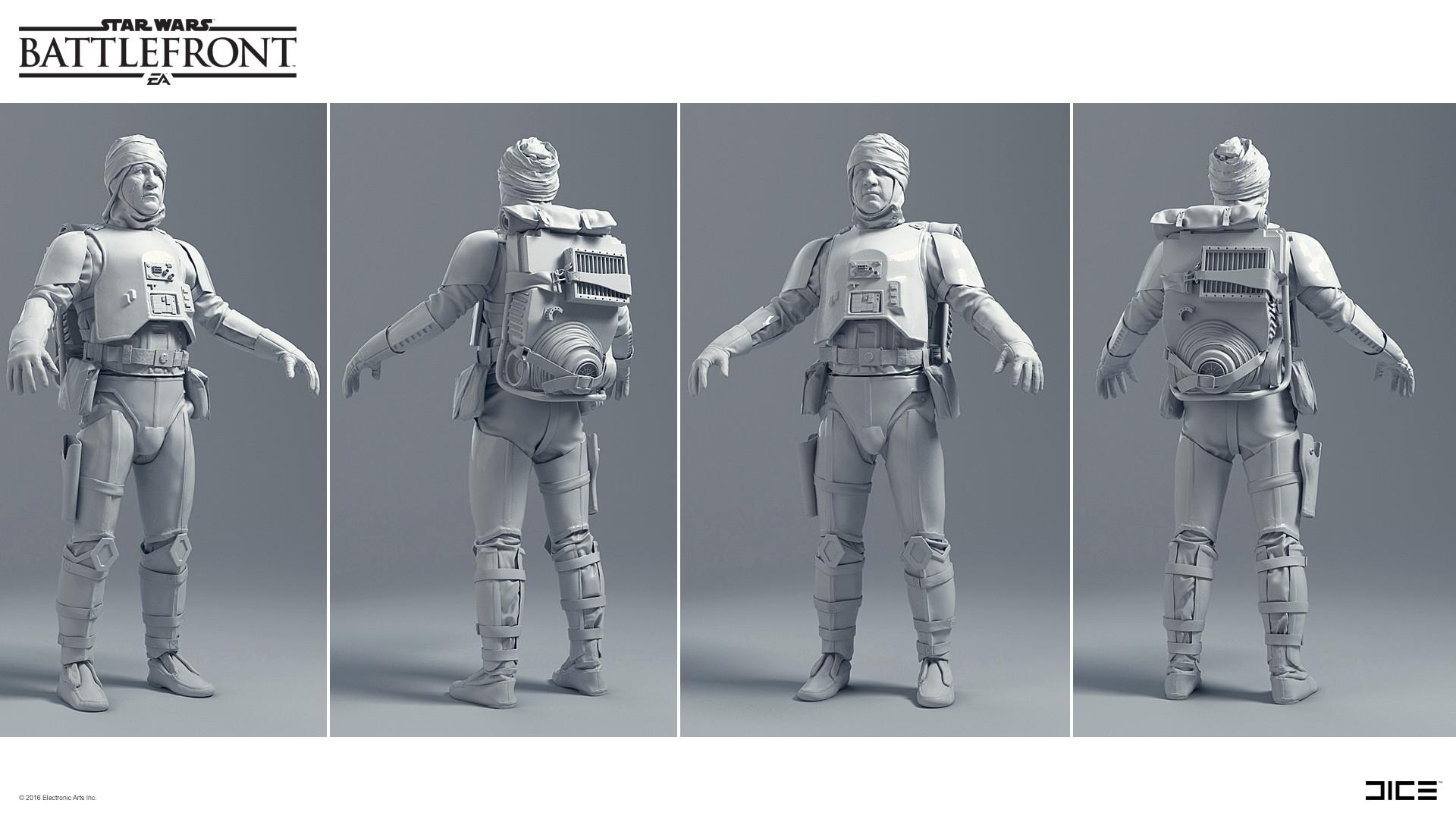 Koncepty z vývoje Star Wars: Battlefrontu ukazují některé nezrealizované prvky 140334