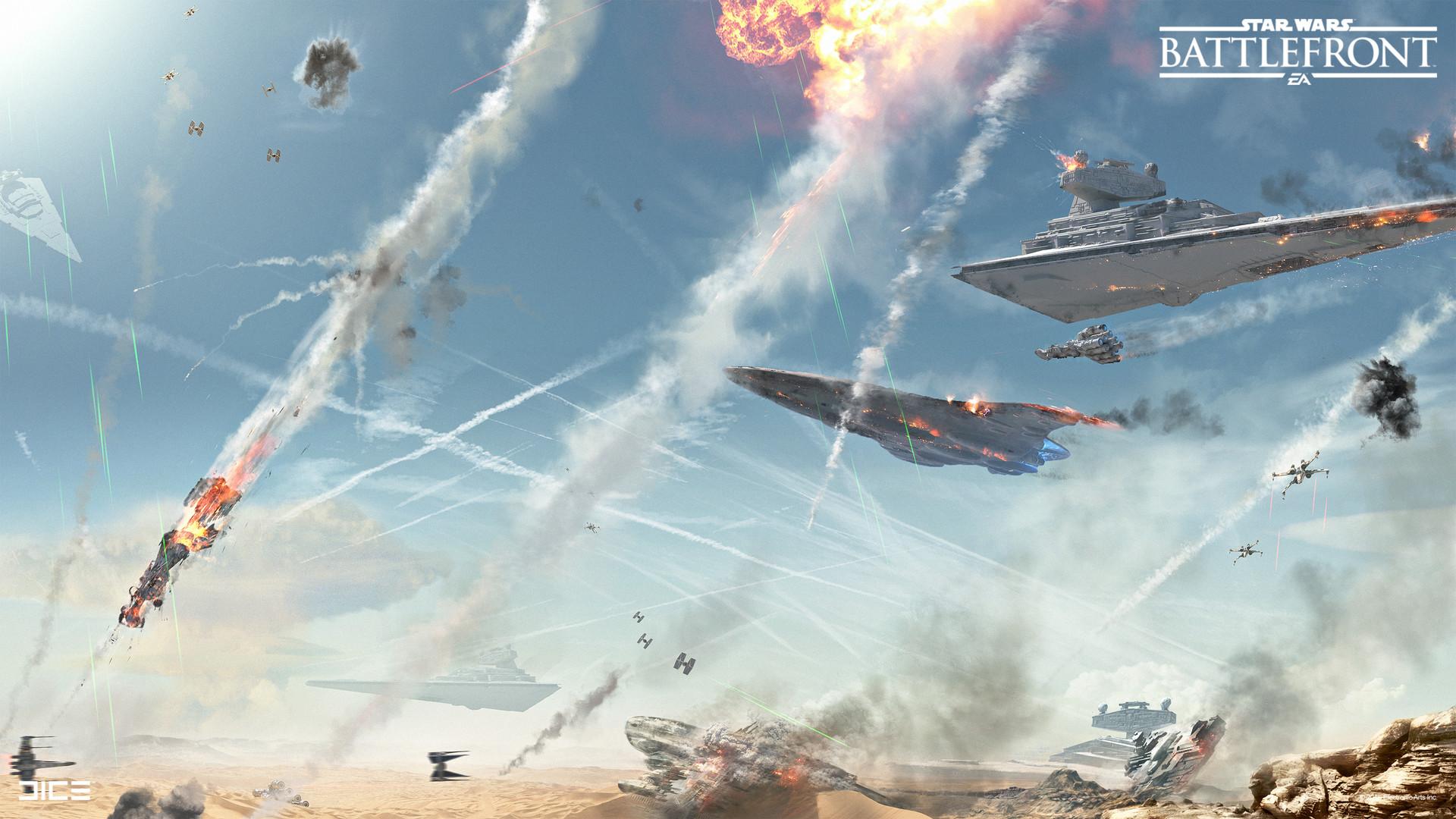 Koncepty z vývoje Star Wars: Battlefrontu ukazují některé nezrealizované prvky 140335
