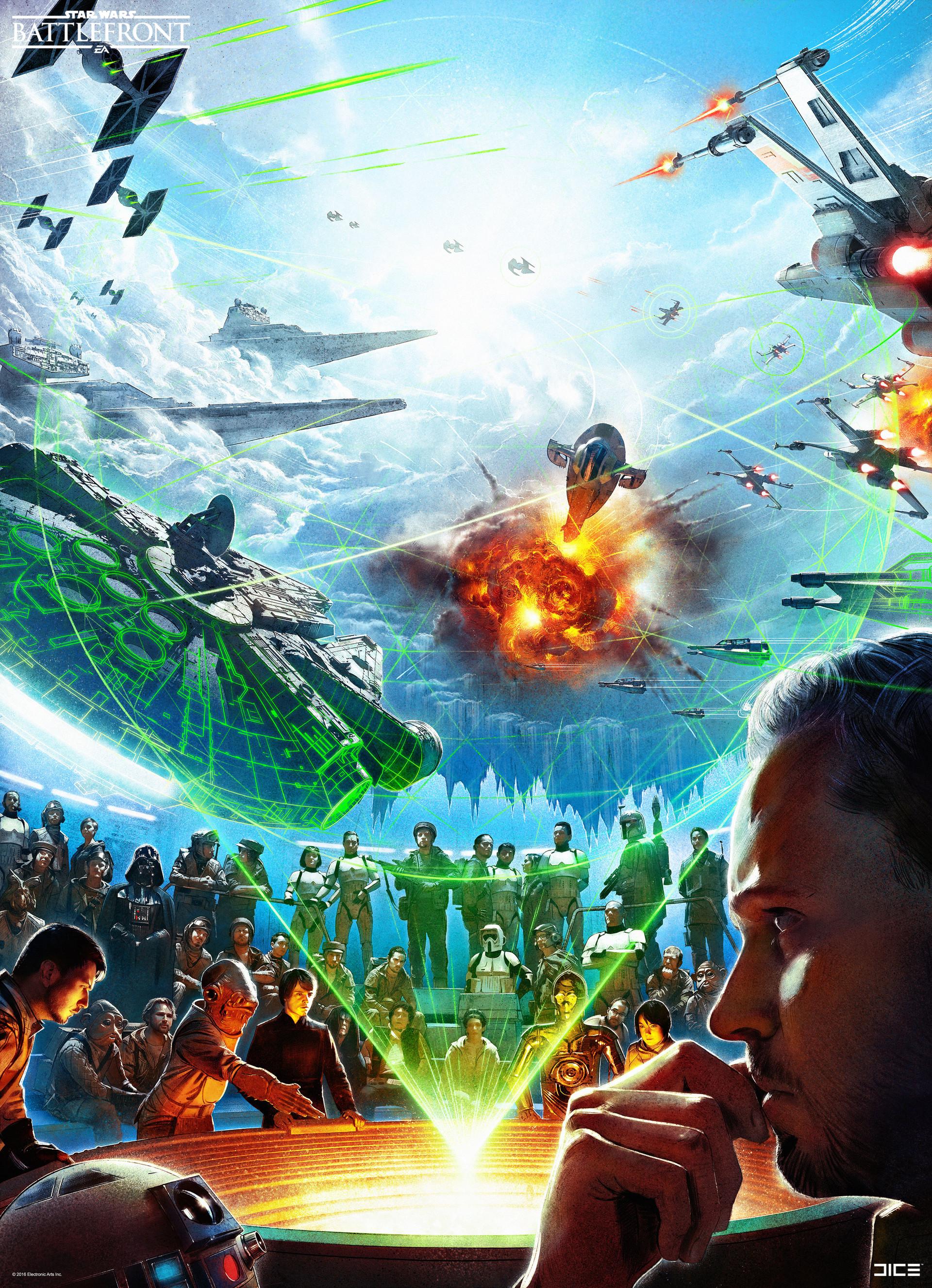 Koncepty z vývoje Star Wars: Battlefrontu ukazují některé nezrealizované prvky 140336