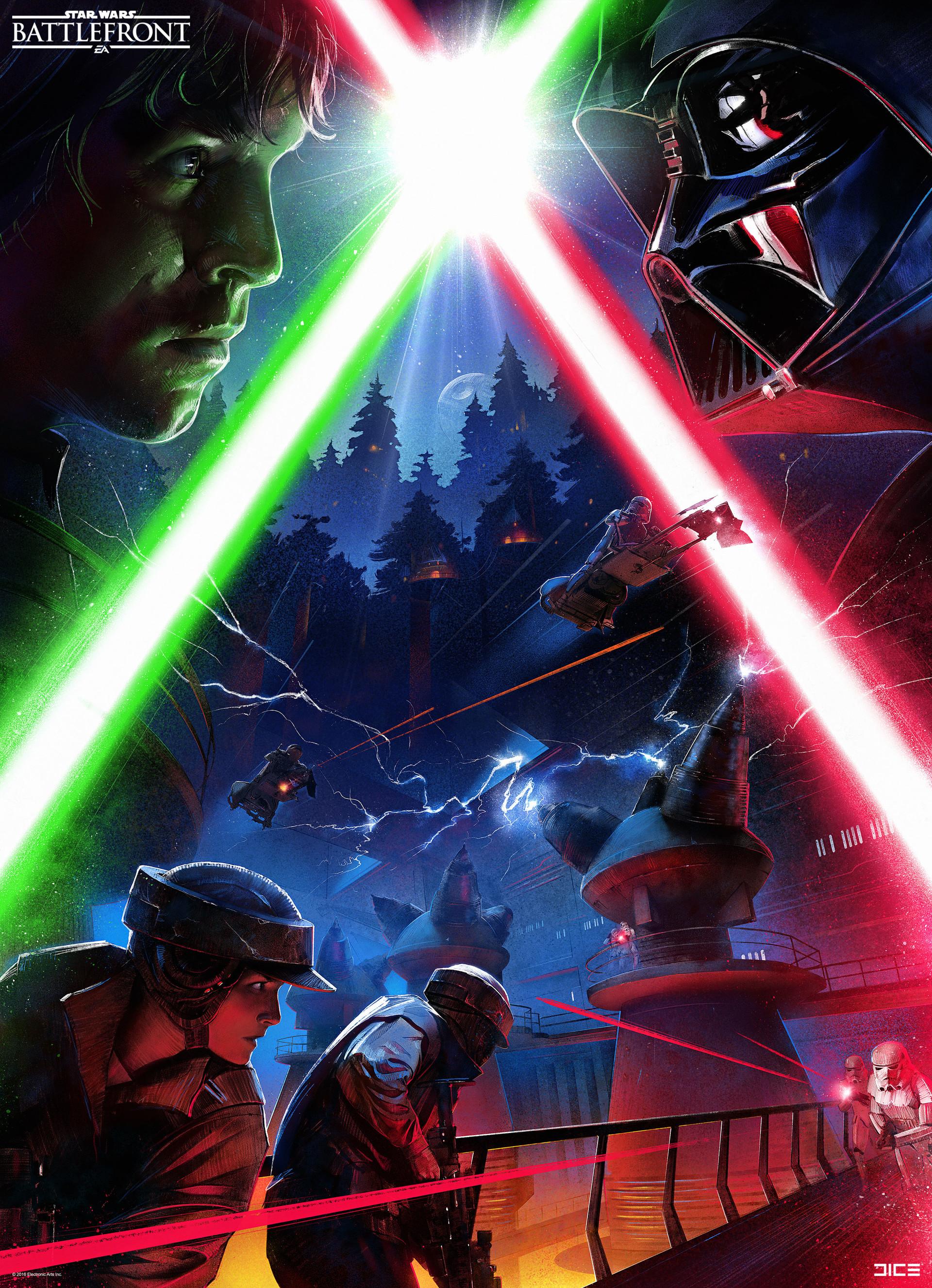 Koncepty z vývoje Star Wars: Battlefrontu ukazují některé nezrealizované prvky 140337