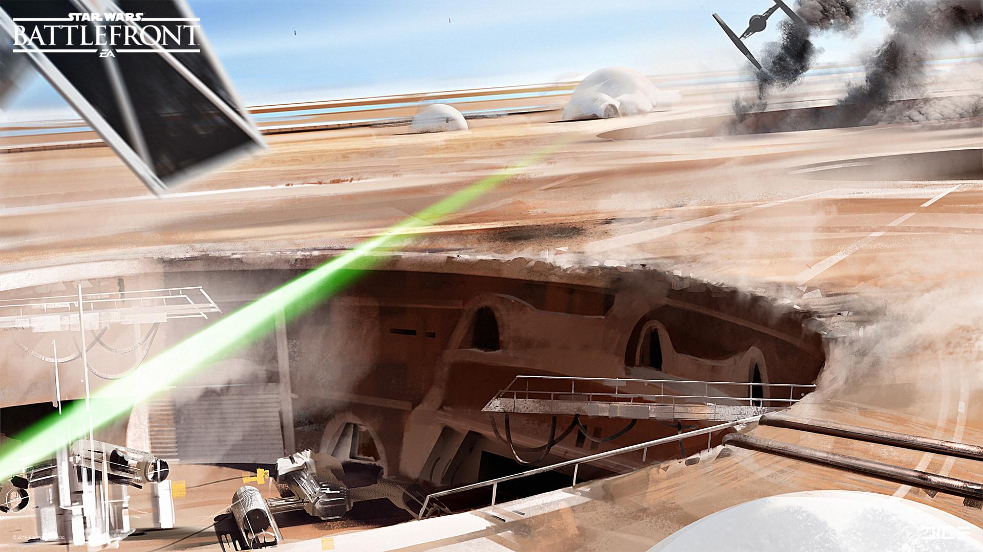 Koncepty z vývoje Star Wars: Battlefrontu ukazují některé nezrealizované prvky 140341