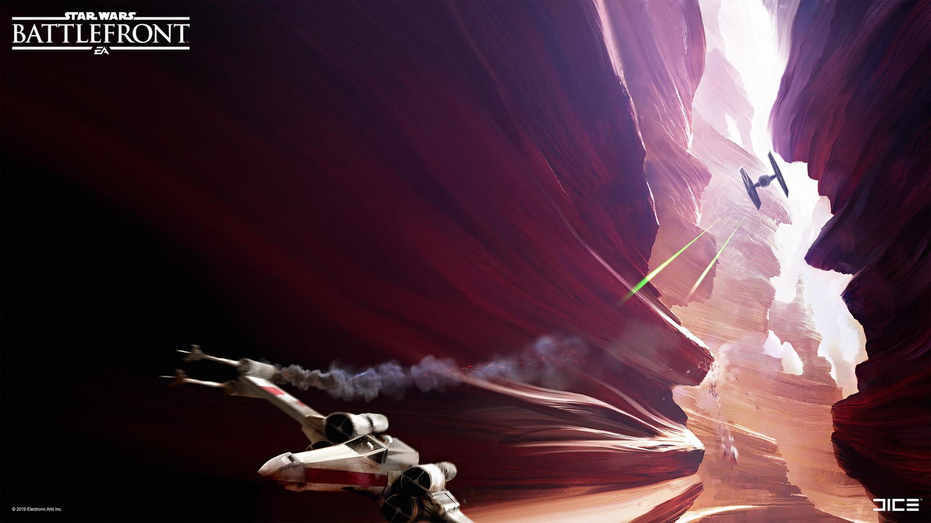 Koncepty z vývoje Star Wars: Battlefrontu ukazují některé nezrealizované prvky 140342