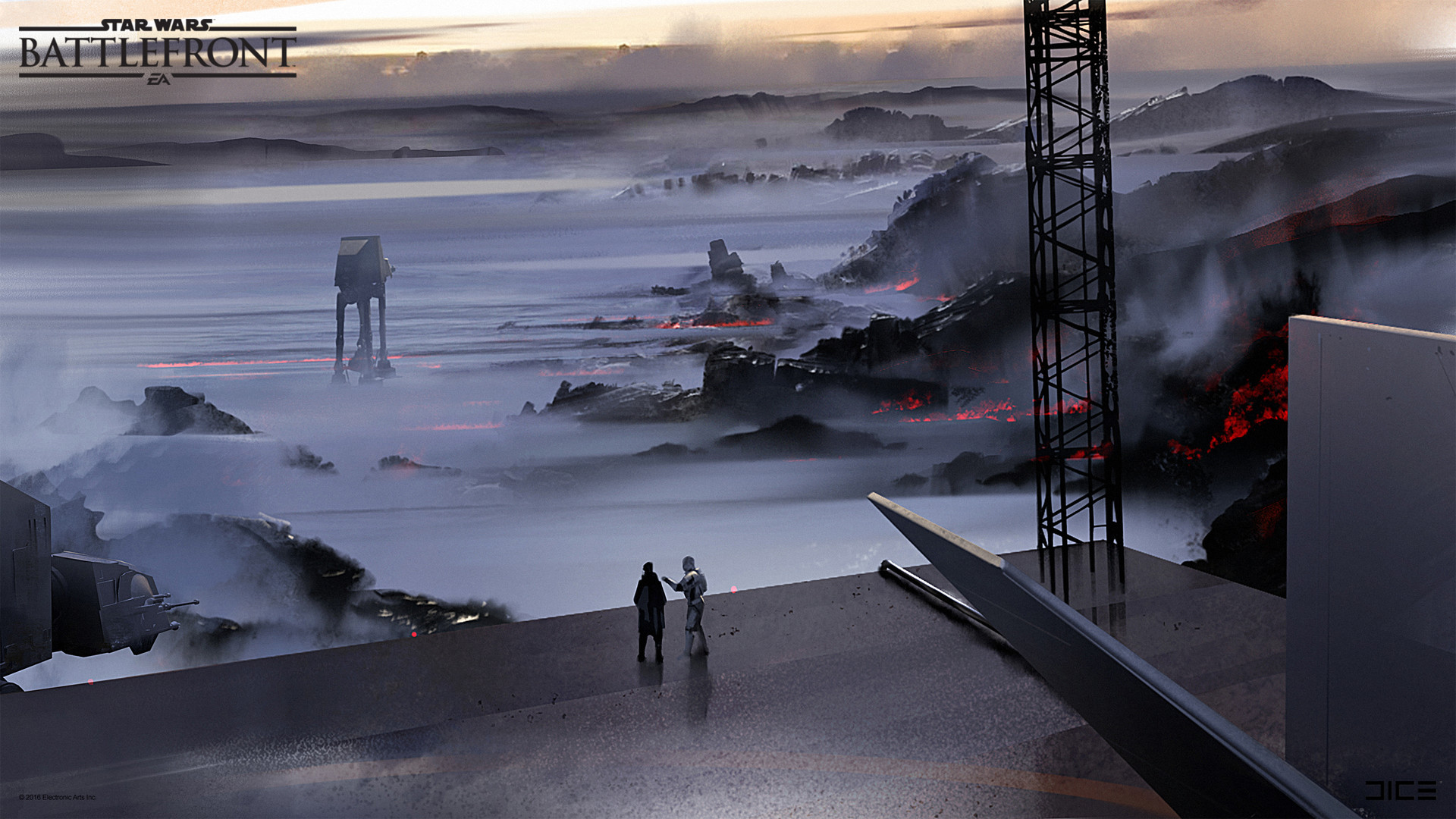 Koncepty z vývoje Star Wars: Battlefrontu ukazují některé nezrealizované prvky 140348