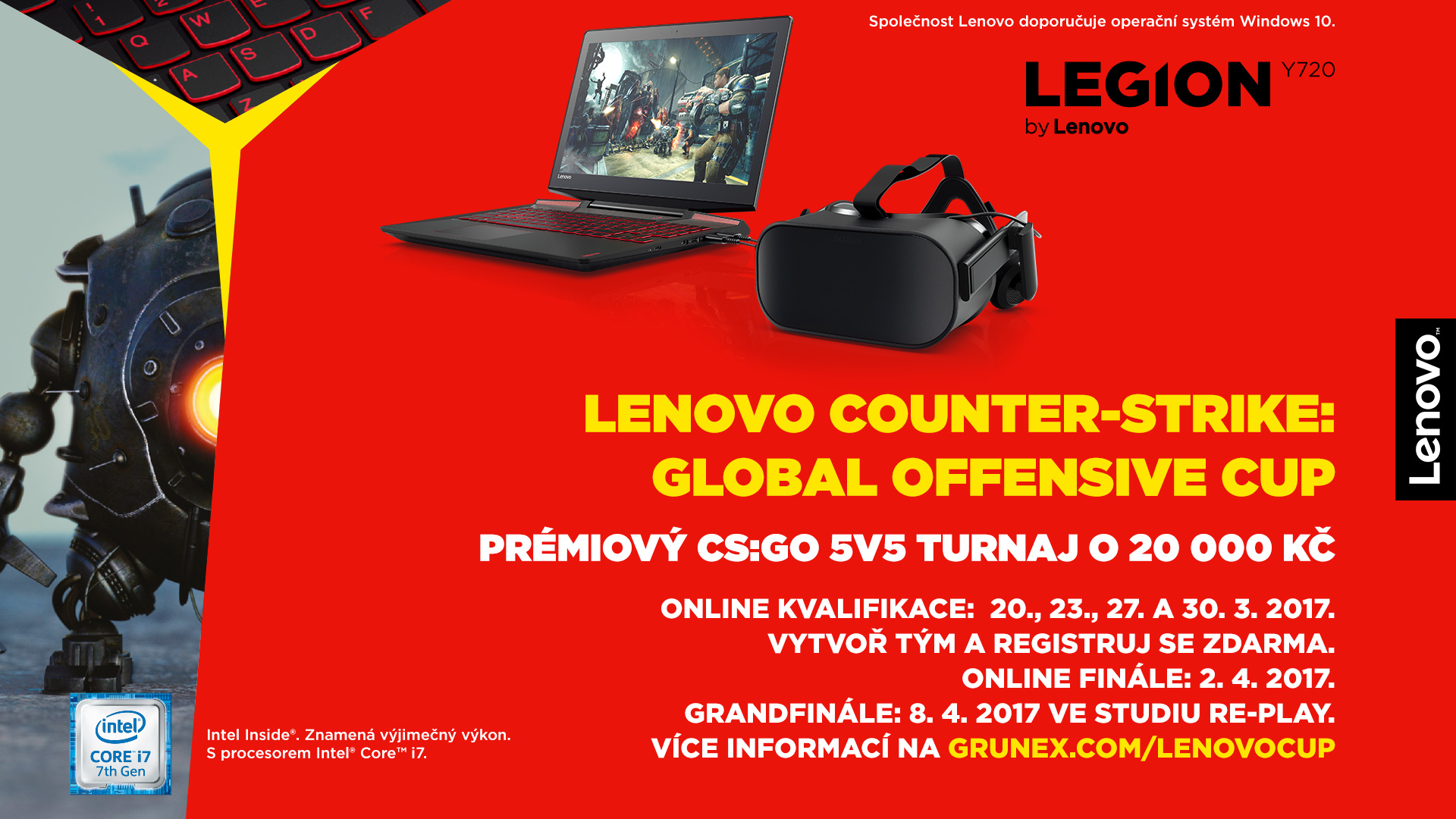 Zúčastni se Lenovo Counter-Strike: Global Offensive turnaje s dotací 20 000 Kč 140477