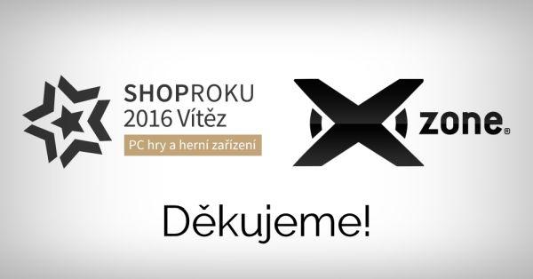 Xzone.cz je podruhé v řadě ShopRoku ve své kategorii 140864