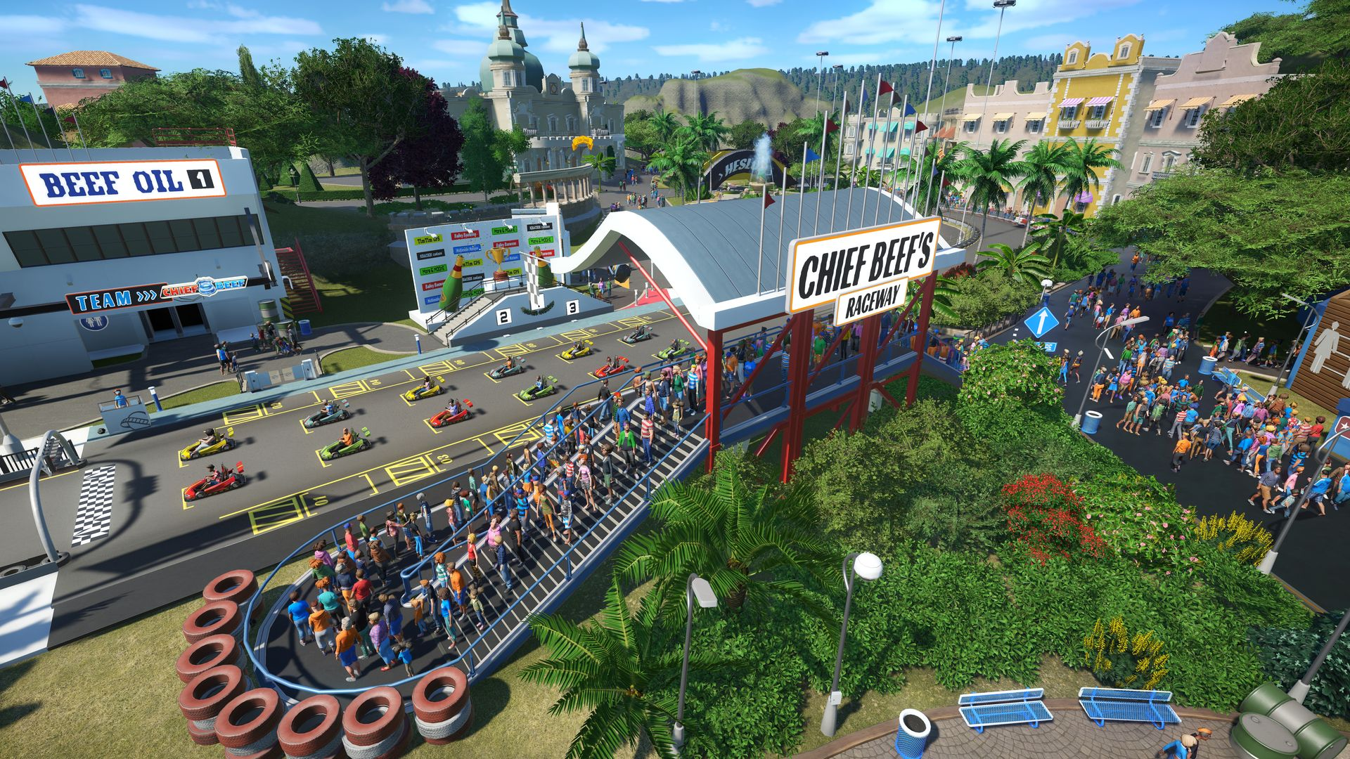 Nové horské dráhy, motokáry a kriminálníci v Planet Coaster 141830