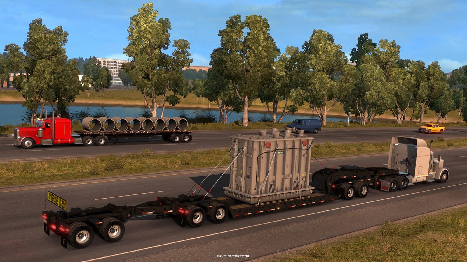 Těžké náklady budeme převážet i v American Truck Simulatoru 142530