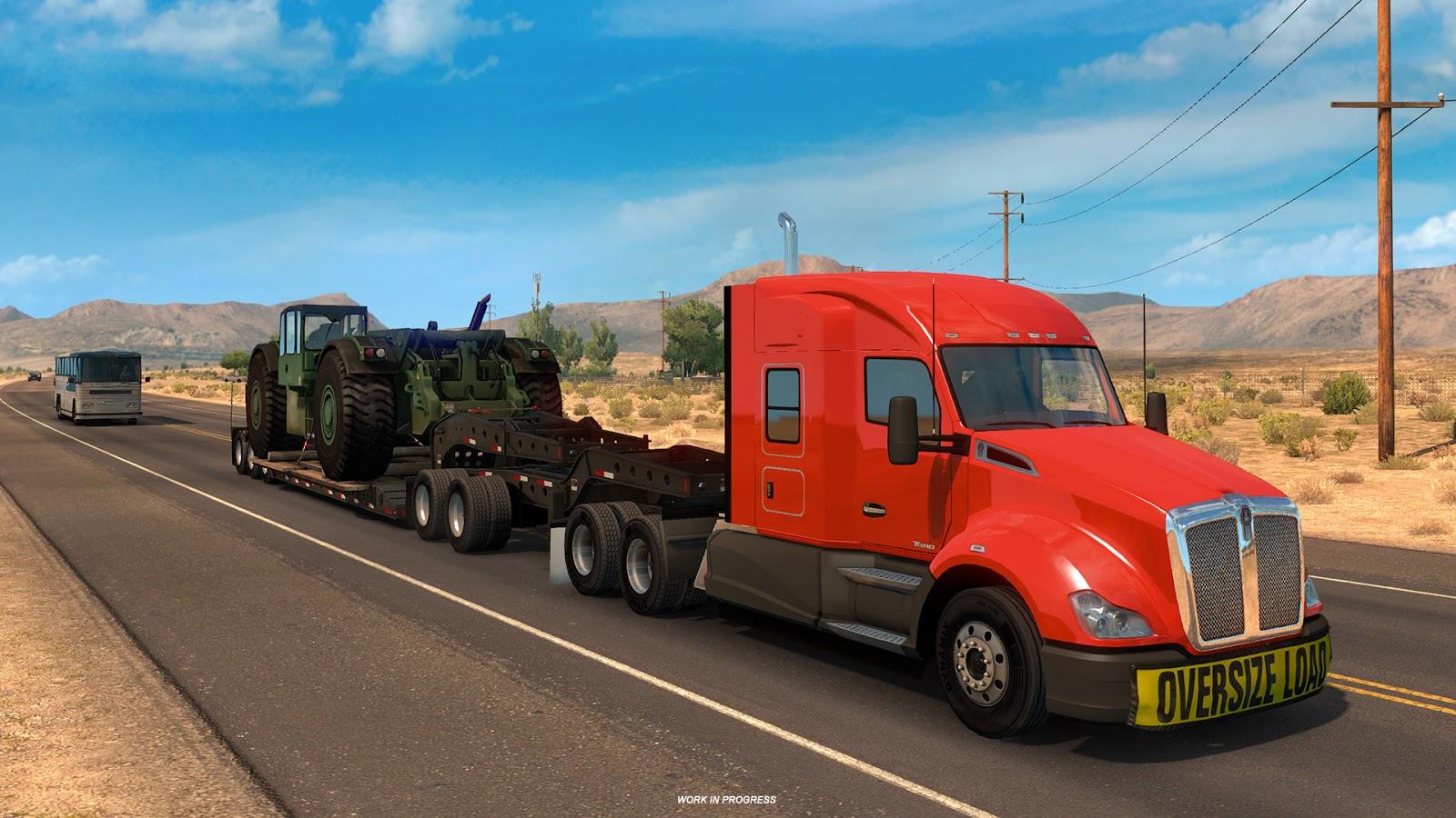 Těžké náklady budeme převážet i v American Truck Simulatoru 142531