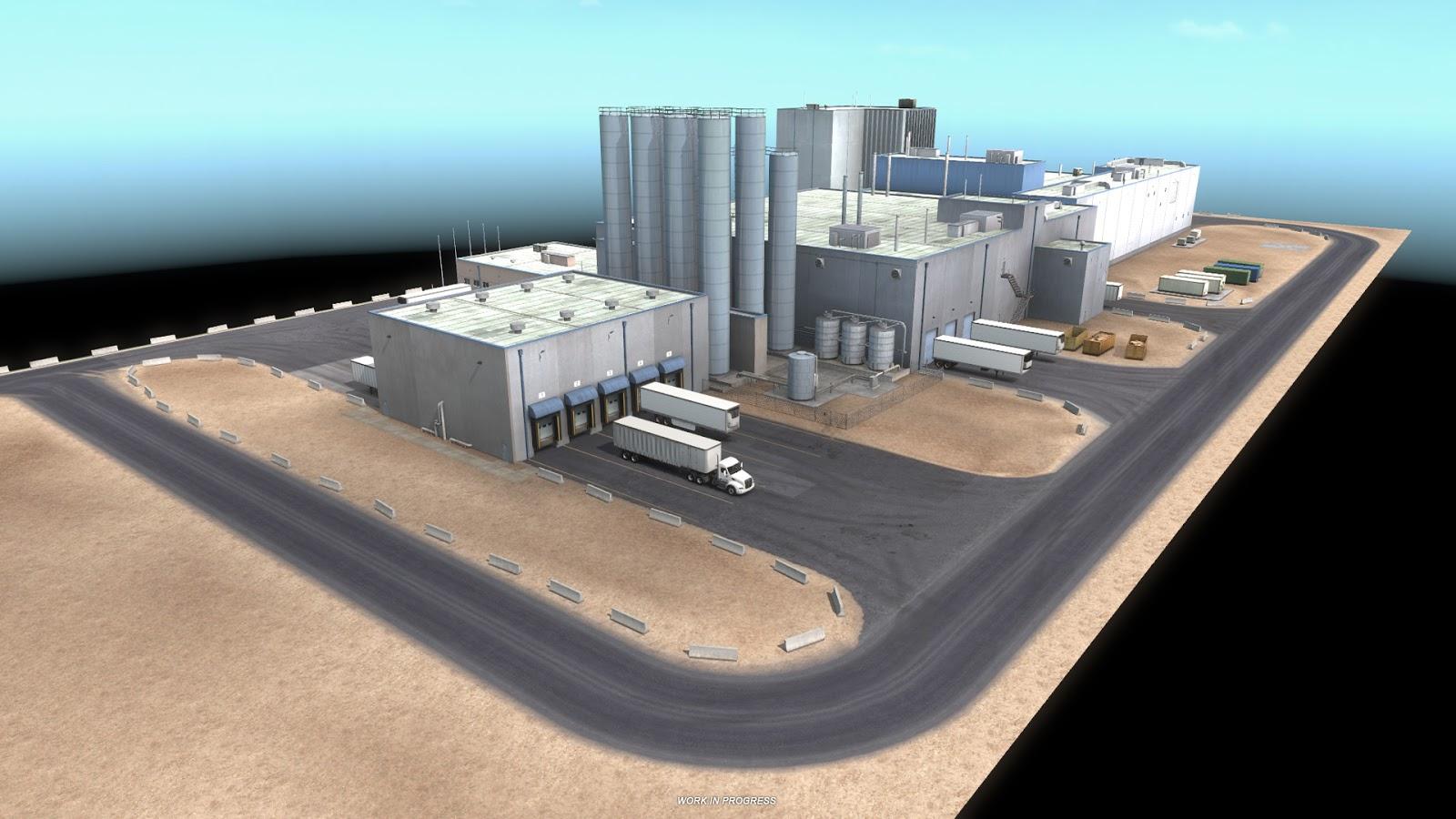 Sklady, doly a překladiště v Novém Mexiku z American Truck Simulatoru 143371