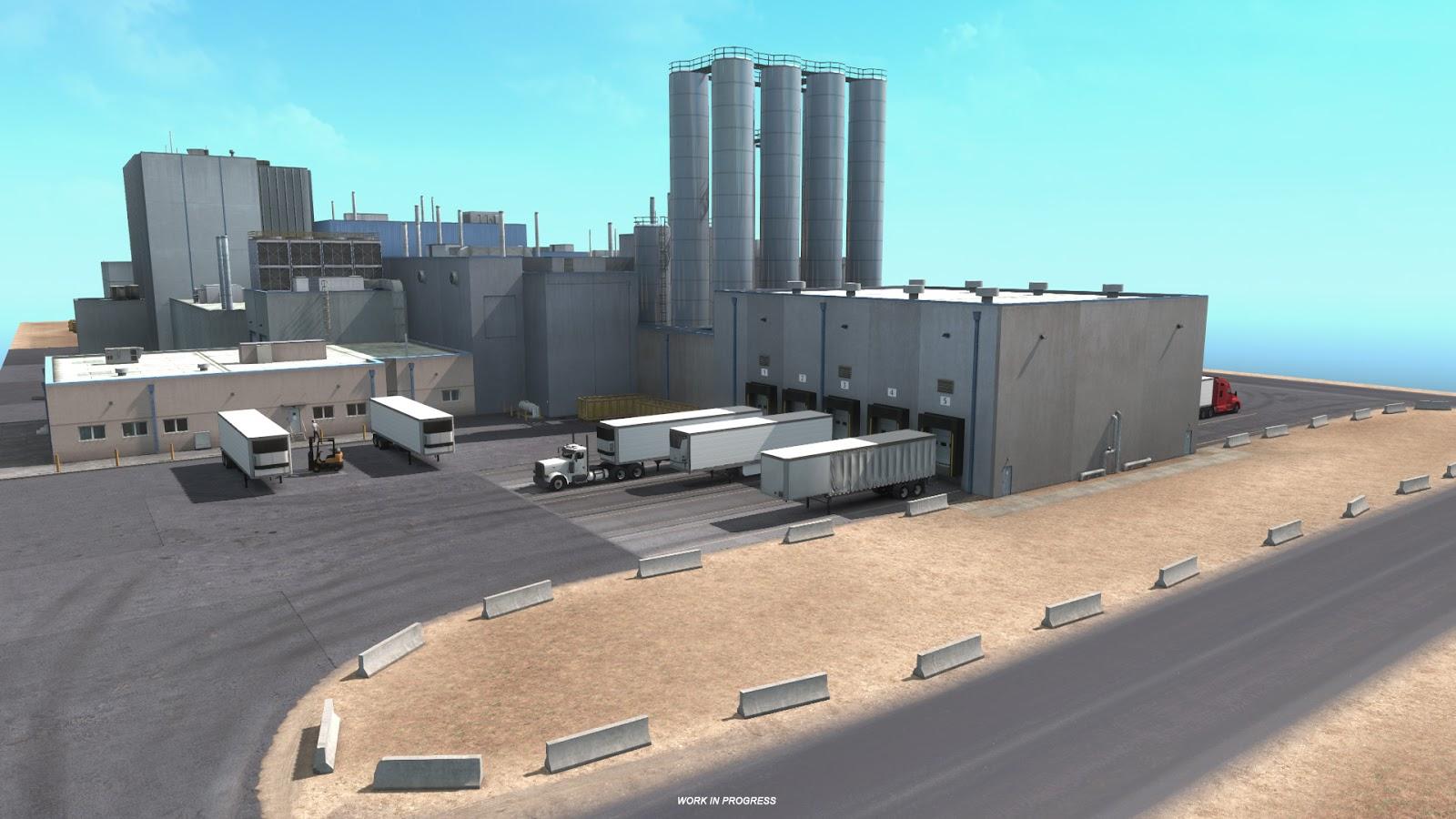 Sklady, doly a překladiště v Novém Mexiku z American Truck Simulatoru 143372