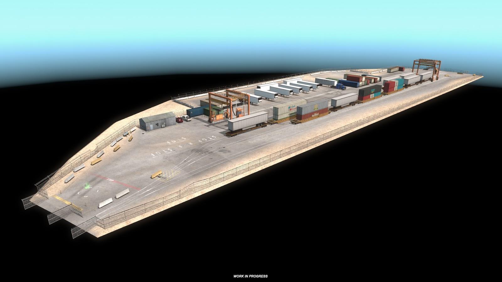 Sklady, doly a překladiště v Novém Mexiku z American Truck Simulatoru 143377