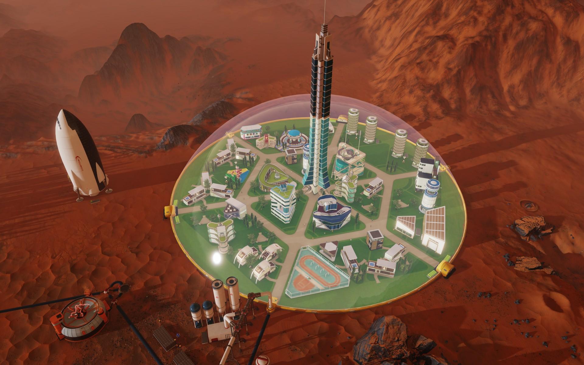 Tropico vyměnili za budovatelskou strategii na Marsu 143819